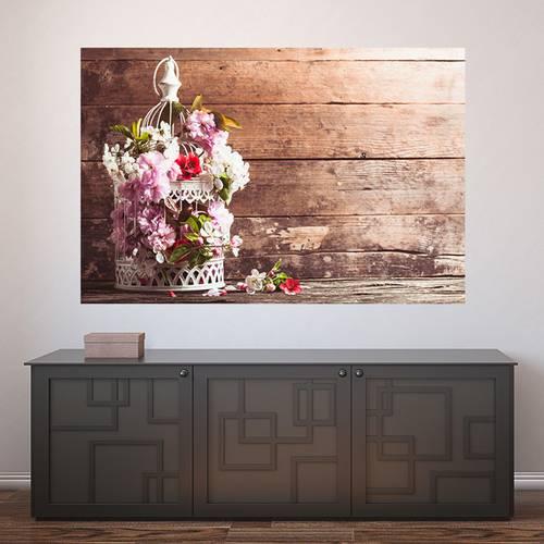 Painel Adesivo de Parede - Flores - 366pn