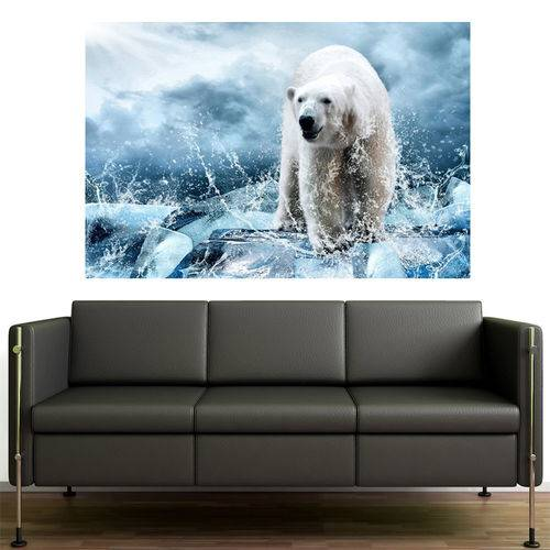 Painel Adesivo de Parede - Urso Polar - N3228