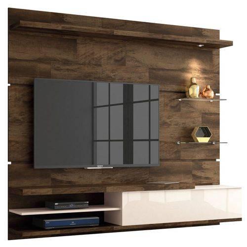 Painel Bancada Suspensa para Tv Até 55 Pol. Destak Deck/off White - Hb Móveis