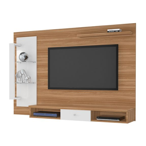 "Painel Cromo para TVs Até 50"" - Naturale/Off White"