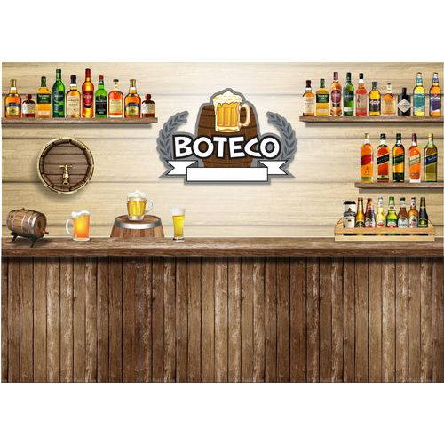 Painel de Festa Boteco 01 -100 Cm X 70 Cm