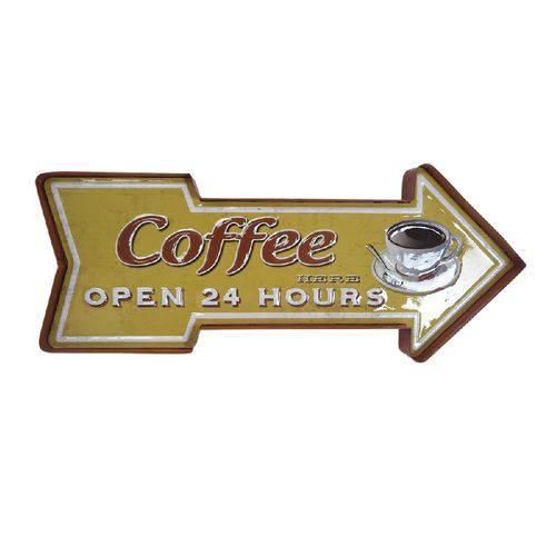 Painel Decorativo 40cm de Ferro Arrow Coffe Open Amarelo Urban - H40247