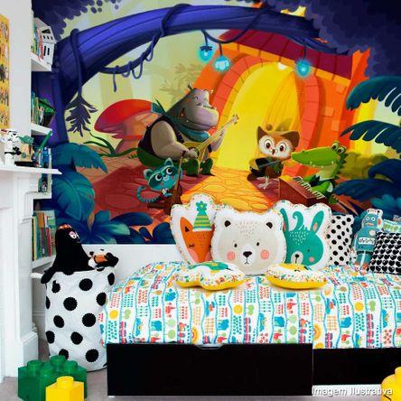 Painel Fotográfico Adesivo Festa Bichinhos Multicor 2,45m X 1,6m Metro Grudado Adesivos
