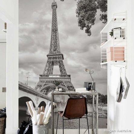 Painel Fotográfico Adesivo Paris Torre 2,6mts X 1,22m Grudado Adesivos