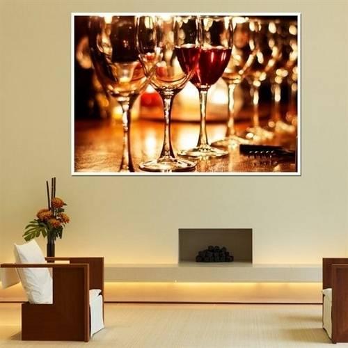 Painel Fotográfico Adesivo - Taças de Vinho