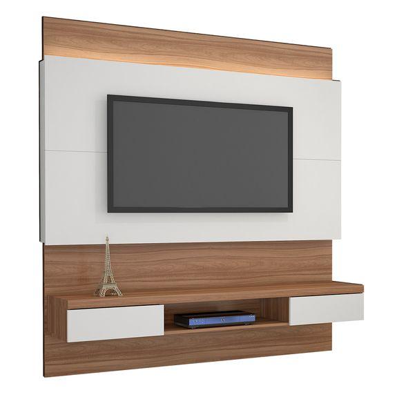 "Painel Gálio para TVs Até 56"" - Naturale/Off White"