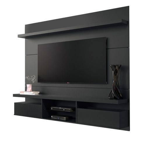 Painel Home Suspenso Livin 1.8 para Tv 55 Pol Preto HB Móveis