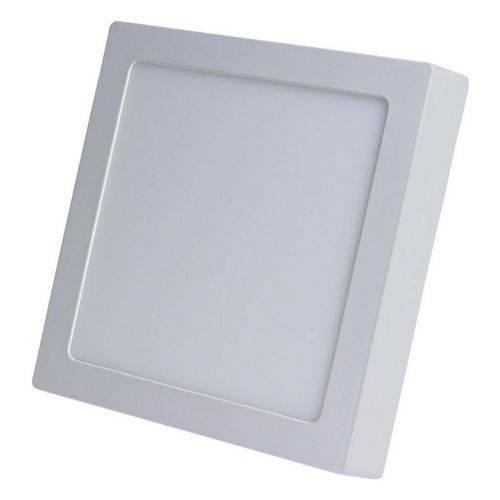 Painel Plafon Led Sobrepor Quadrado 25w Branco Frio