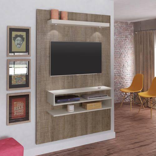 Painel para TV Até 47 Polegadas com LED Nexus Artely Canela/Off White