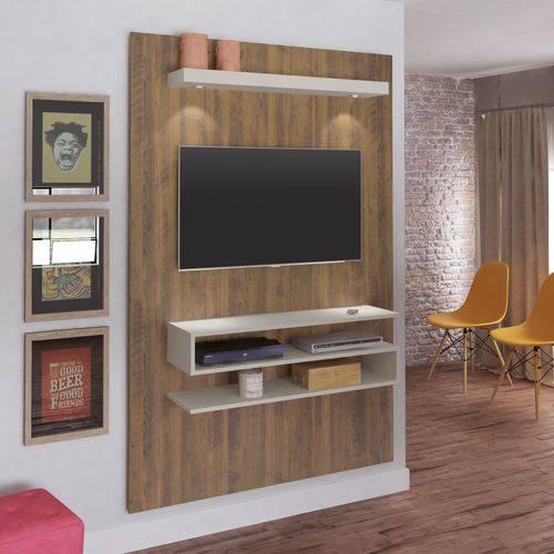 Painel para TV Até 47 Polegadas com LED Nexus Artely Pinho/Off White