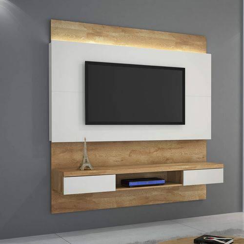 Painel para TV Até 56 Polegadas Gálio JCM Móveis Naturale/Branco Off White