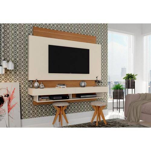 Painel para Tv Bancada Suspensa Tb115 Off White/freijó - Dalla Costa