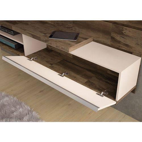 Painel para Tv Suspenso Destak 1.6 Deck/off White Hb Móveis