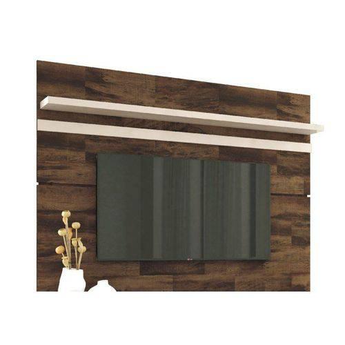 Painel para Tv Venezza Deck com Off White- Hb Móveis