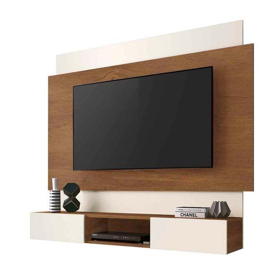 """Painel para TVs Até 55"""" Belize - Naturale / Off White"""