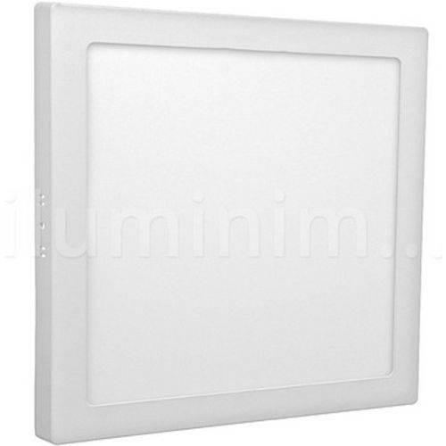 Painel Plafon 25w Led Quadrado Sobrepor Branco Frio Bivolt