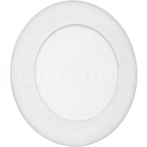 Painel Plafon 6w Led Embutir Branco Frio Redondo