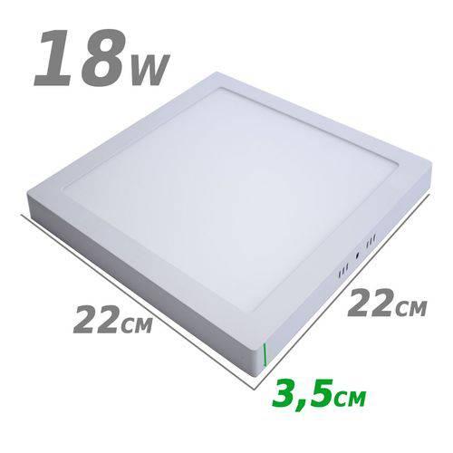 Painel Plafon Led de Sobrepor 18w 22 X 22cm 3000k Branco Quente