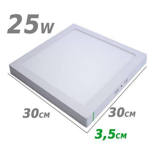 Painel Plafon Led de Sobrepor 25w 30 X 30cm 3000k Branco Quente