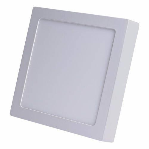 Painel Plafon Led Sobrepor Quadrado 24w Branco Quente 3000k