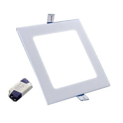Painel Plafon Luminaria Led Quadrado Embutir Ultra Slim 6w - Branco Frio