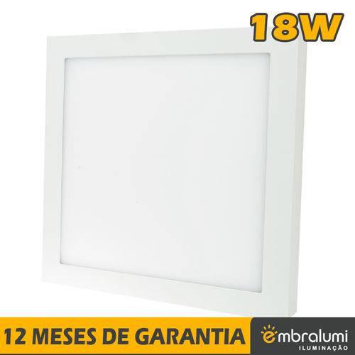 Painel Plafon Luminária Led Sobrepor 12w Branco Quente - Embralumi