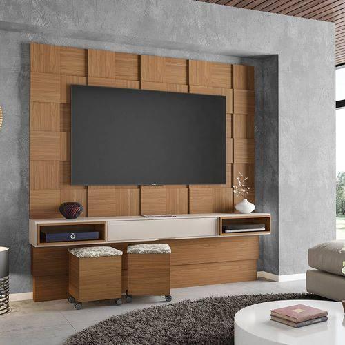 Painel Quadriculado para Tv de 75 Polegadas 1 Gaveta Tb126 Dalla Costa