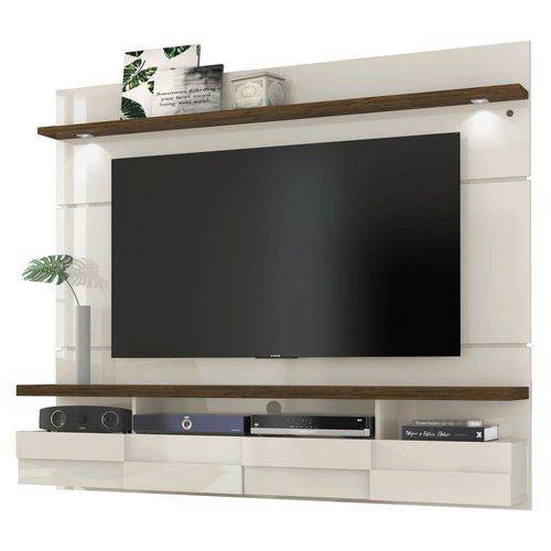 Painel Suspenso para TV 60 Polegadas Lana 1.8 Off White Savana Madetec