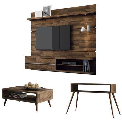 Painel Tv Épic com Mesa de Centro Lucy e Aparador Quad Deck - Hb Móveis