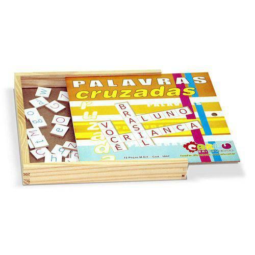 Palavras Cruzadas 72 Peças - Colorido Carlu Brinquedos