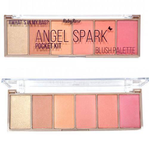 Paleta Blush Ruby Rose Angel Spark Pocket Kit Estojo HB-6108