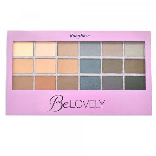 Paleta de Sombra Ruby Rose 18 Cores - Be Lovely