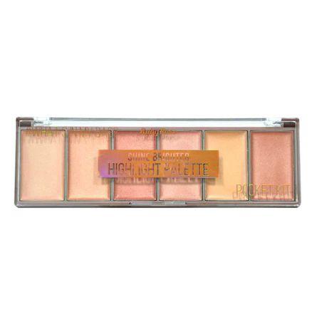 Paleta Iluminador Ruby Rose Pocket Shine Brighter HB 7510