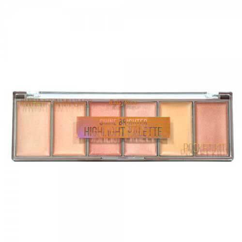 Paleta Iluminador Shine Brighter Pocket Ruby Rose Hb-7510