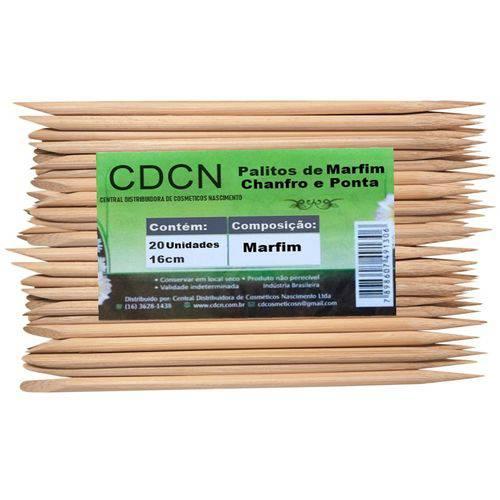 Palito de Marfim Chanfro e Ponta com 20 Unidades Cdcn