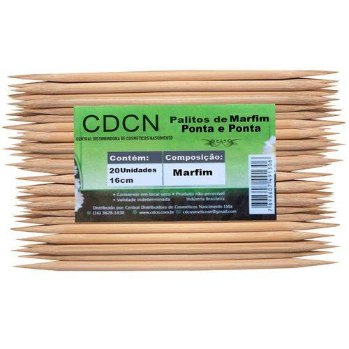 Palito de Marfim Ponta e Ponta com 20 Unidades Cdcn