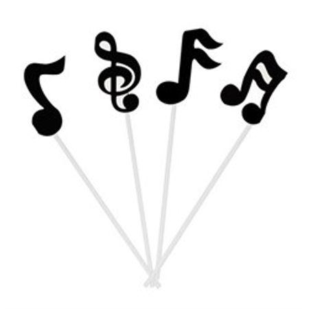 Palito Decorativo Notas Musicais- 10 Unidades