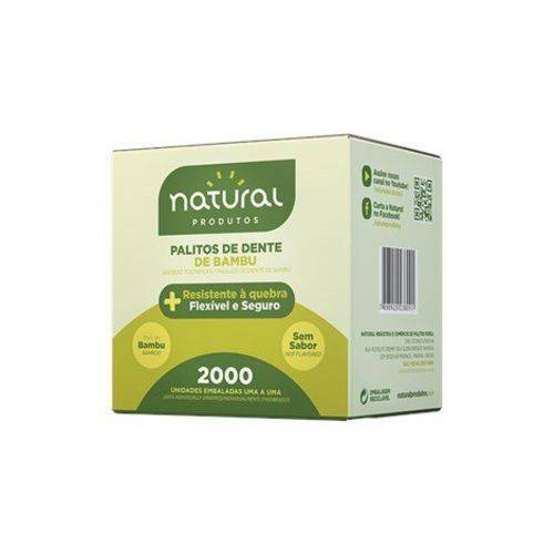 Palito Dental de Bambu Embalado 2000un Natural