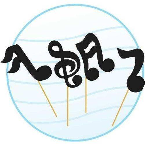 Palito Notas Musicais - 10 Unidades