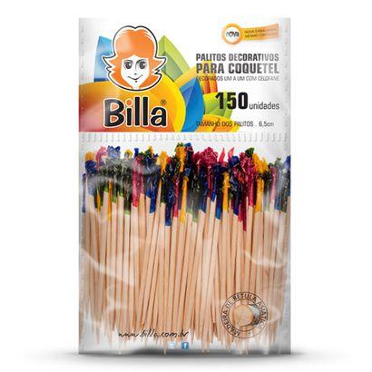 Palitos Decoraivos para Coquetel 6,5cm 150un Billa
