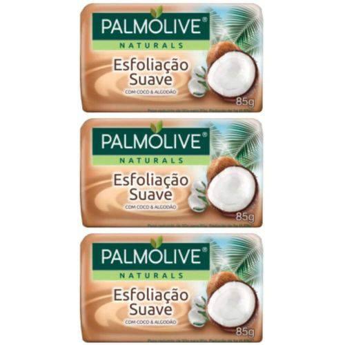 Palmolive Esfoliação Suave Sabonete Coco 85g (kit C/03)