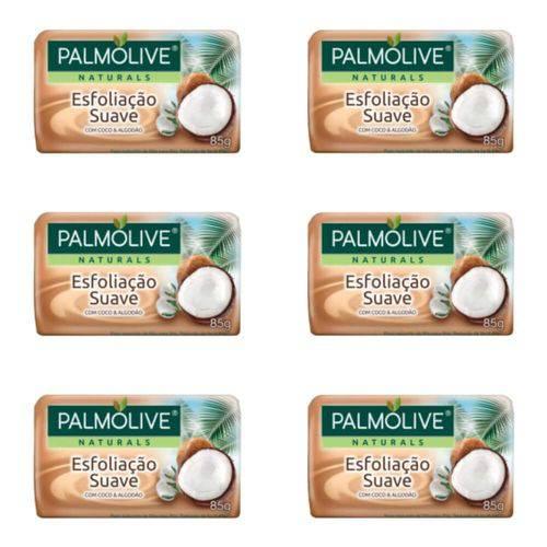 Palmolive Esfoliação Suave Sabonete Coco 85g (kit C/06)