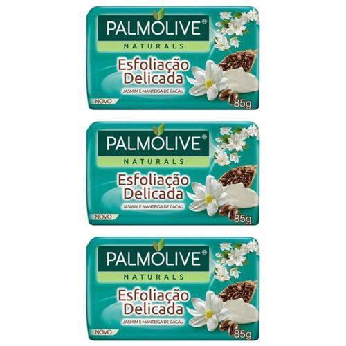 Palmolive Naturals Esfoliação Delicada Sabonete Jamim 85g (kit C/03)