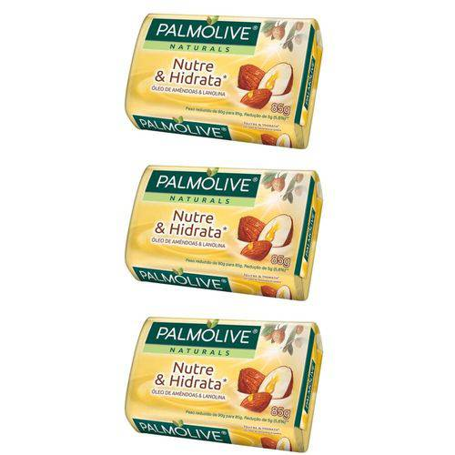 Palmolive Naturals Nutre e Hidrata Sabonete Lanolina 85g (kit C/03)