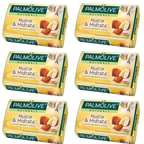 Palmolive Naturals Nutre e Hidrata Sabonete Lanolina 85g (kit C/06)