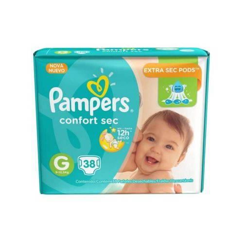 Pampers Comfort Sec Fralda Infantil G C/38