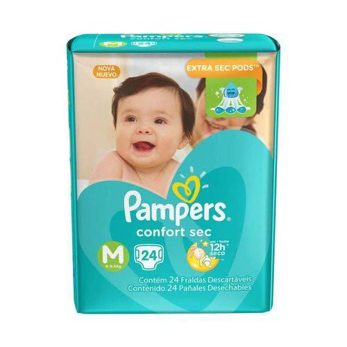 Pampers Comfort Sec Fralda Infantil M C/24