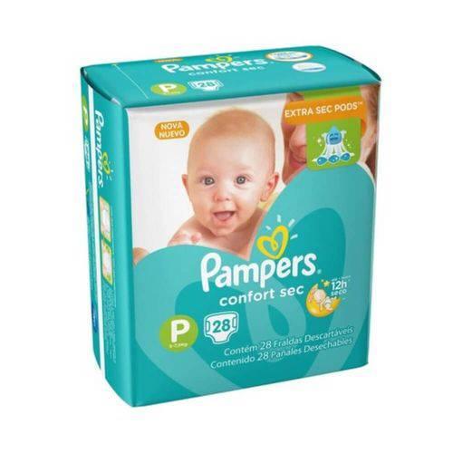 Pampers Comfort Sec Fralda Infantil P C/28