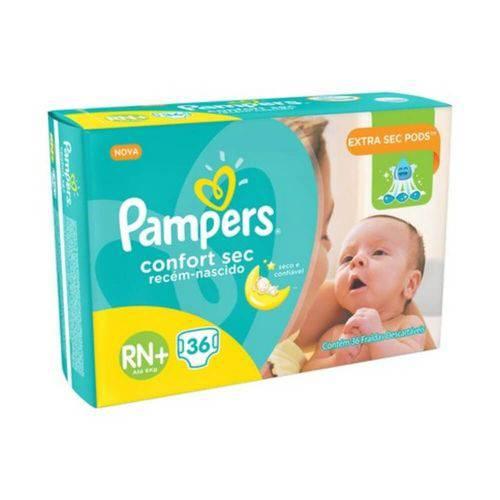 Pampers Comfort Sec Fralda Infantil Rn C/36