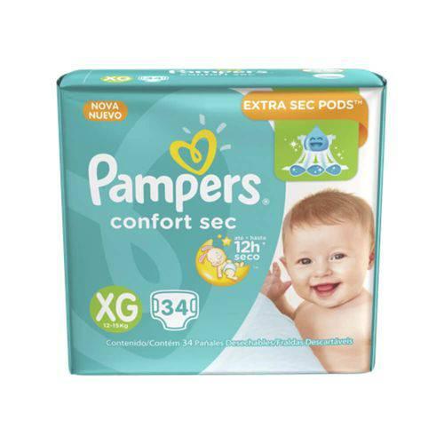 Pampers Comfort Sec Fralda Infantil Xg C/34